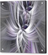Silver Abstract Ascension. Mystery Of Colors Acrylic Print