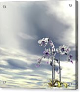 Silver And Gold Orchids Acrylic Print