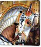 Silver Carousel Horse II Acrylic Print