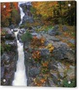 Silver Cascade In Autumn Acrylic Print