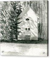 Silver City Church Acrylic Print