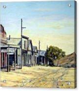 Silver City Nevada Acrylic Print by Evelyne Boynton Grierson