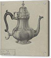 Silver Coffee Pot Acrylic Print