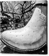 Silver Cowboy Boot Acrylic Print
