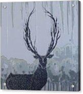 Silver Deer Acrylic Print