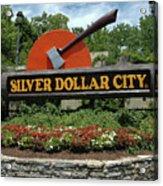 Silver Dollar City Sign Acrylic Print