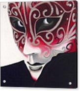 Silver Flair Mask Acrylic Print