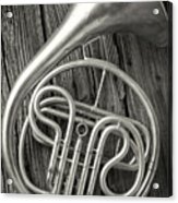 Silver French Horn Acrylic Print