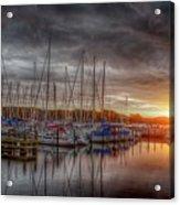 Silver Harbor Skies Acrylic Print