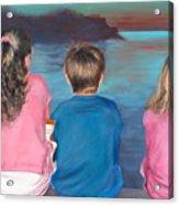 Silver Island Sunset Acrylic Print