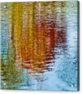 Silver Lake Autumn Reflections Acrylic Print