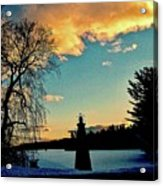 Silver Lake Sundown Acrylic Print