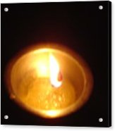 Silver Lamp Acrylic Print