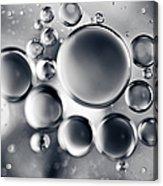 Silver Macro Droplets Acrylic Print