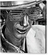 Silver Man Mime Acrylic Print