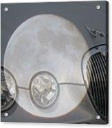 Silver Moon Jaguar Acrylic Print