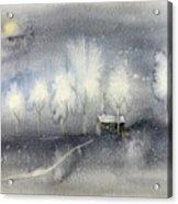 Silver Night Acrylic Print
