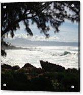 Hawaiian Silver Ocean Acrylic Print