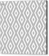 Silver Pattern Acrylic Print