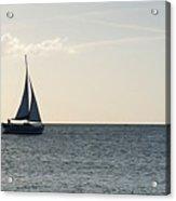 Silver Sailboat Acrylic Print