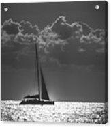 Silver Sea Sailboat Delray Beach Florida Acrylic Print