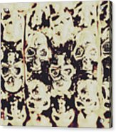 Silver Skull Art Acrylic Print
