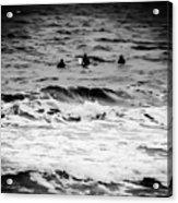 Silver Surfers Acrylic Print