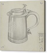 Silver Tankard Acrylic Print