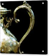 Silver Tea Pot Handle - Digital Oil Art Work Acrylic Print