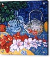 Silver Tea Pot Acrylic Print