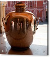 Silver Water Urn Jaipur Acrylic Print