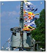 Silversides Flags Acrylic Print