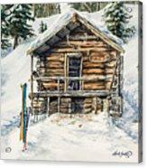 Silvertip Lodge Acrylic Print