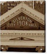 Silverton City Hall 1908 Acrylic Print