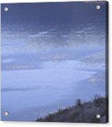 Silverwood Lake In Blue Overcast Acrylic Print