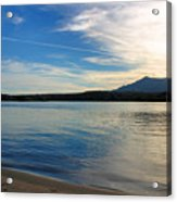 Silvery Reflection Acrylic Print