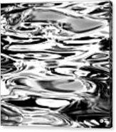 Silvery Water Ripples Acrylic Print
