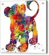 Simba The Lion King Watercolor Art  Acrylic Print