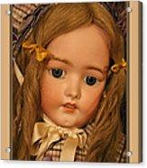 Simon And Halbig Antique Doll Acrylic Print