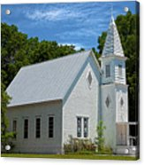 Simple Country Church Acrylic Print