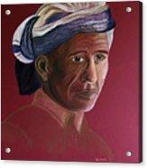 Simple Life - Pastel Portrait Painting  Acrylic Print