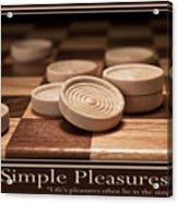 Simple Pleasures Poster Acrylic Print