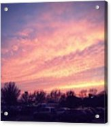 The Beauty Of A Supermarket Parking Lot Acrylic Print