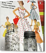 Simplicity Vintage Sewing Pattern - Color Acrylic Print