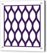 Simplified Latticework With Border In Purple Acrylic Print