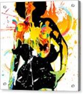 Simplistic Splatter Acrylic Print