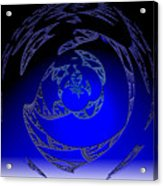 Simply Blue Acrylic Print