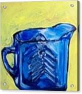 Simply Blue Acrylic Print by Sheila Tajima