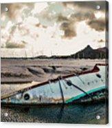 Simpson's Bay Shipwreck Acrylic Print