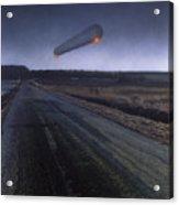 Simulation Of Ufo Sighting, Wisconsin Usa Acrylic Print